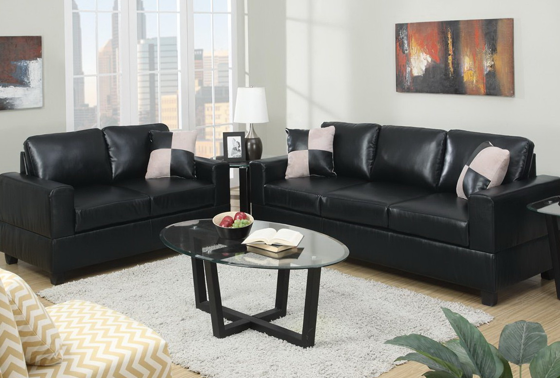 Black Sofa And Loveseat Set