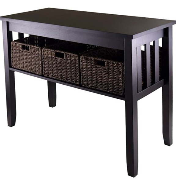Black Sofa Table With Storage
