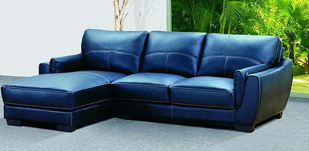 Blue Leather Sofa Bed