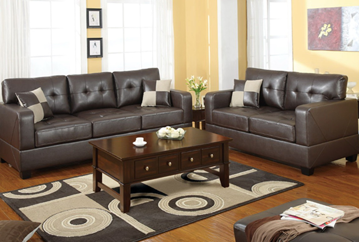 Bonded Leather Sofa Set