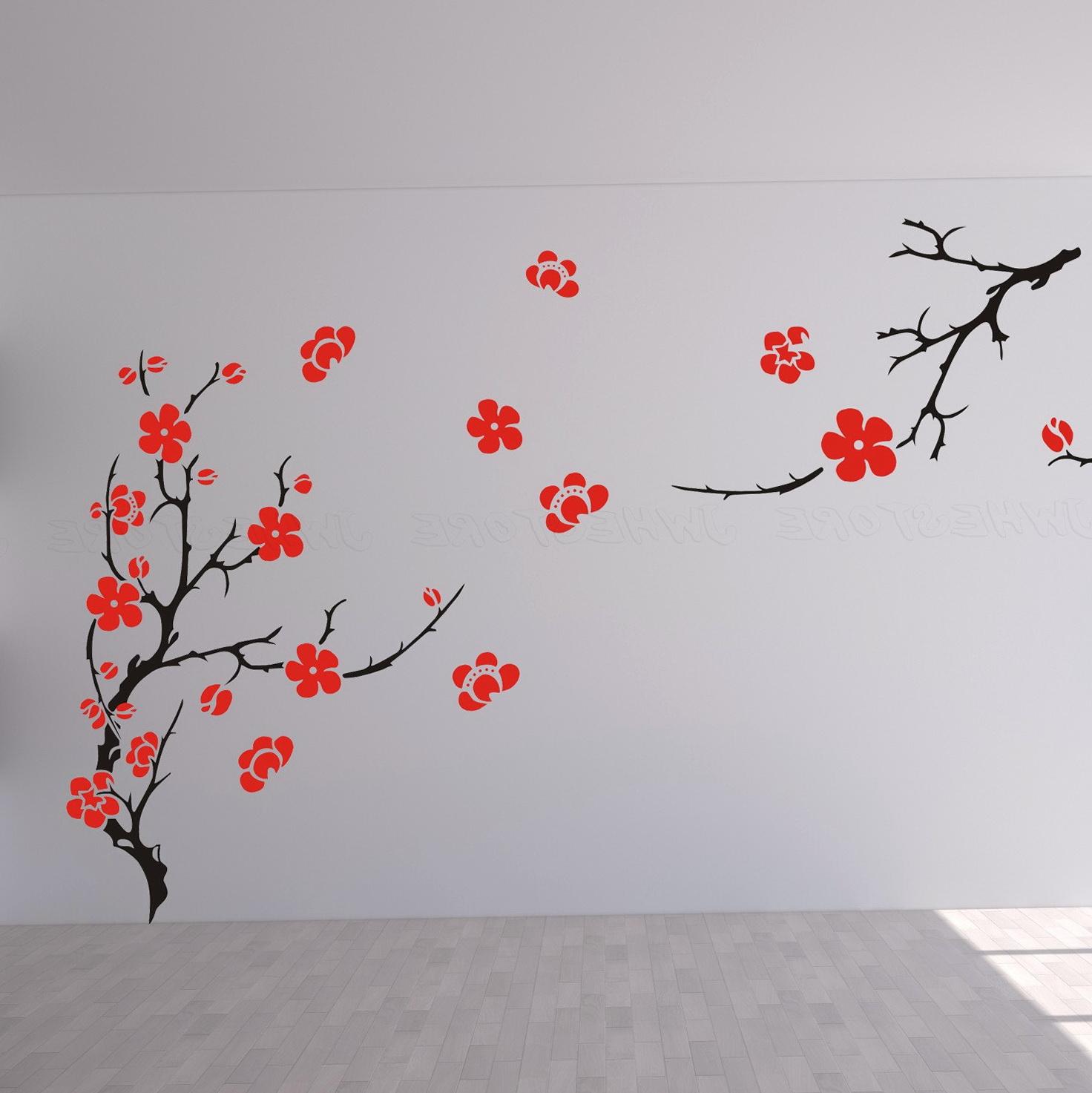 Cherry Blossom Wall Art Stickers