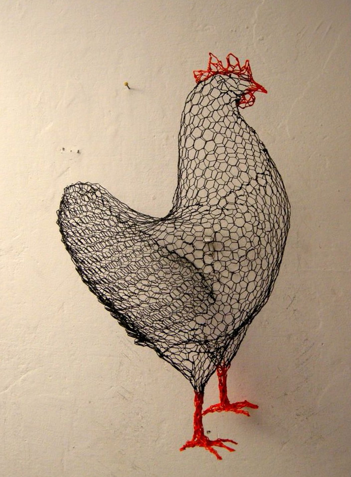 Chicken Wire Wall Art
