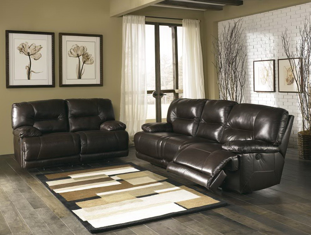 Contemporary Leather Sofa And Loveseat