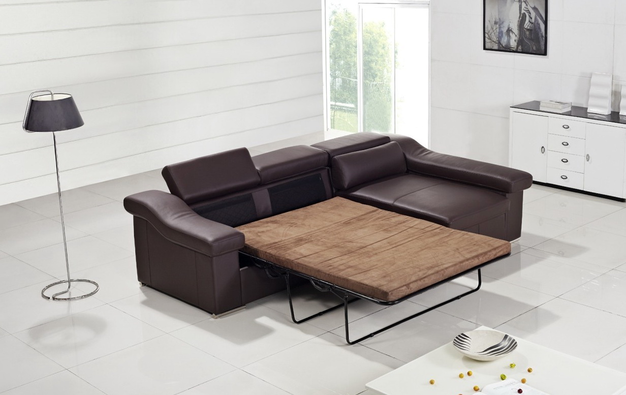 Contemporary Leather Sofa Bed