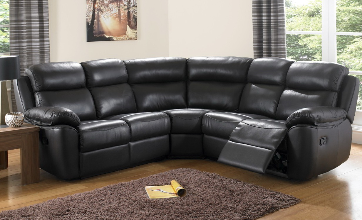 Corner Leather Recliner Sofa