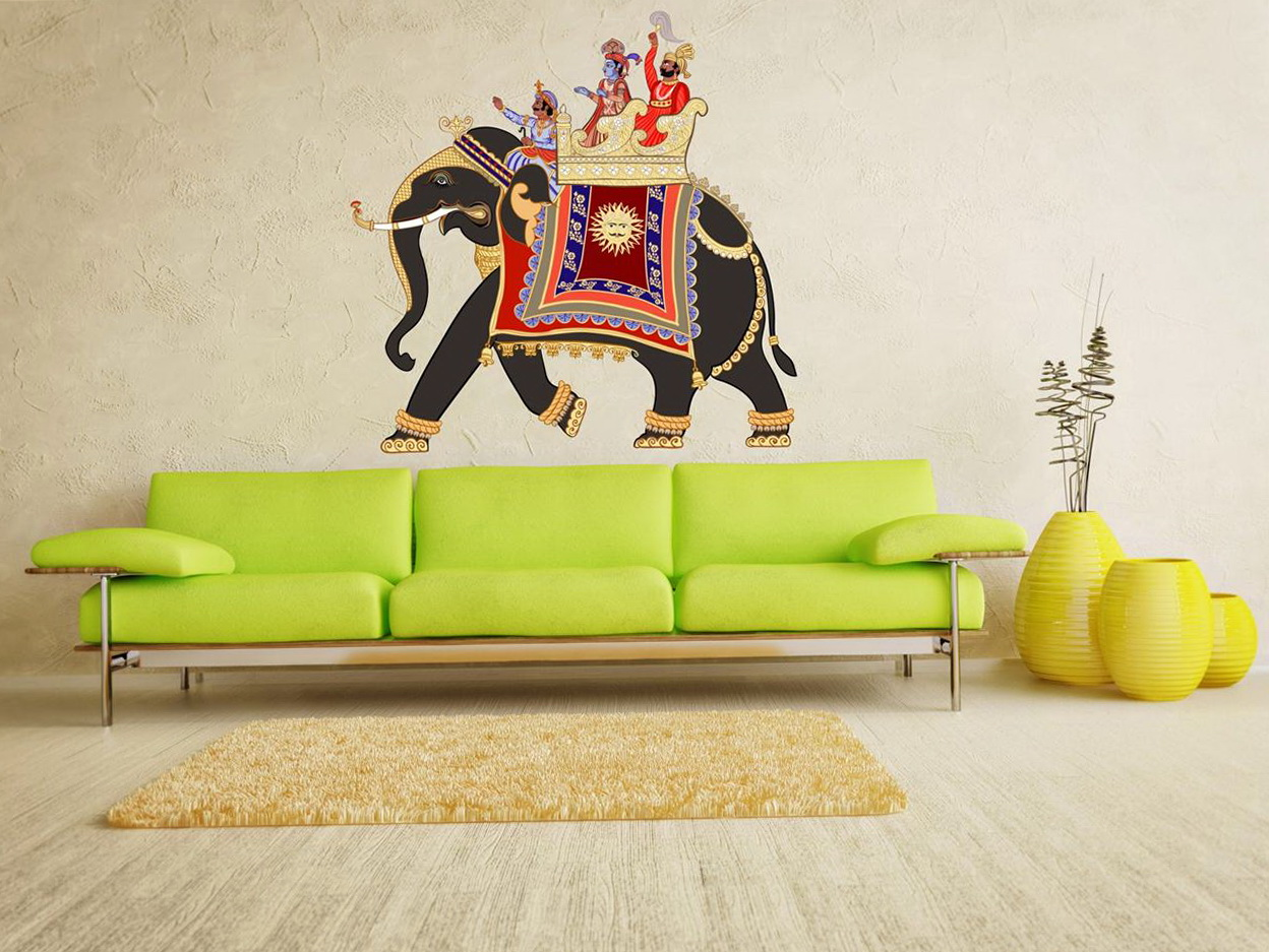 Elephant Wall Art Stickers