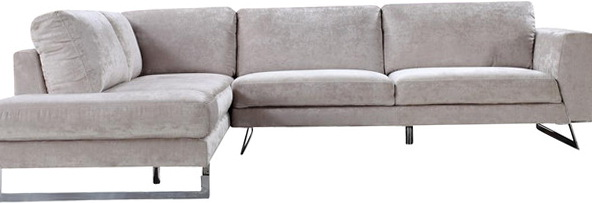 Elliot Fabric Microfiber Sectional Sofa
