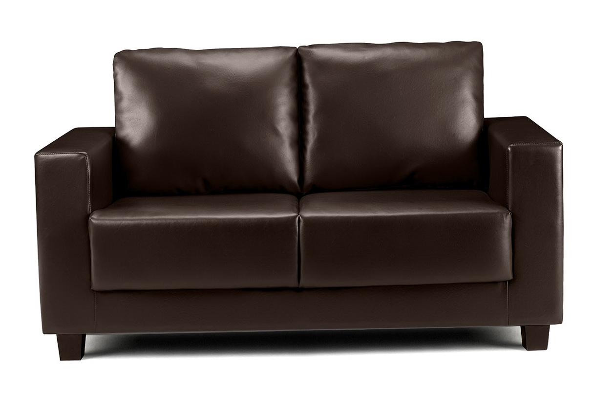Faux Leather Sofa Brown