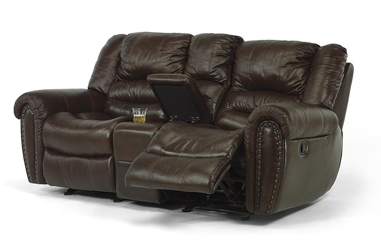 Flexsteel Leather Sofa Recliner