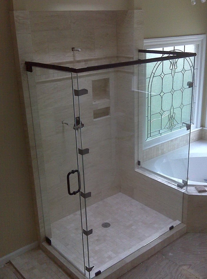 Frameless Shower Door With Header