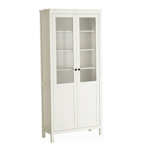 Glass Door Cabinet White