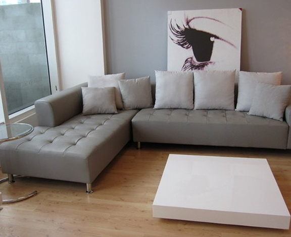 Gray Leather Sofa Decor