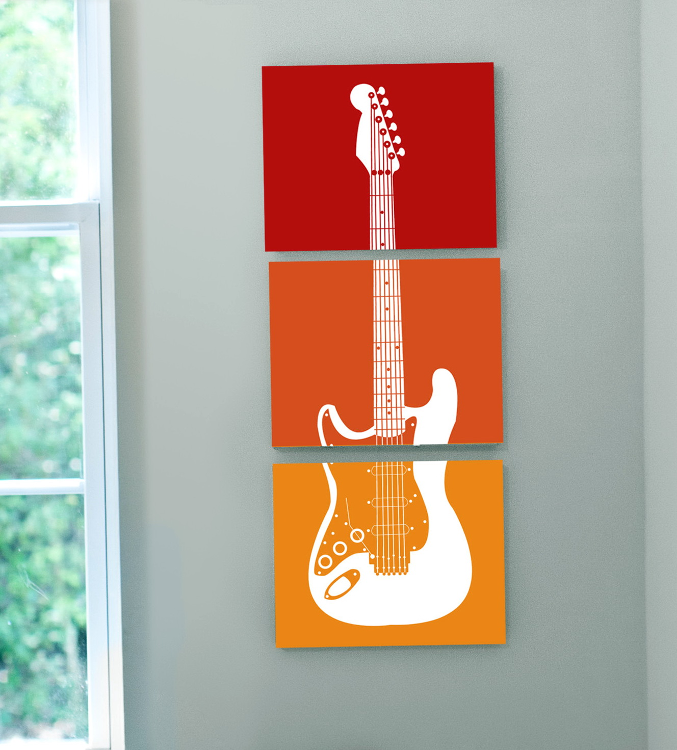 Guitar Wall Art For Kids Room'
