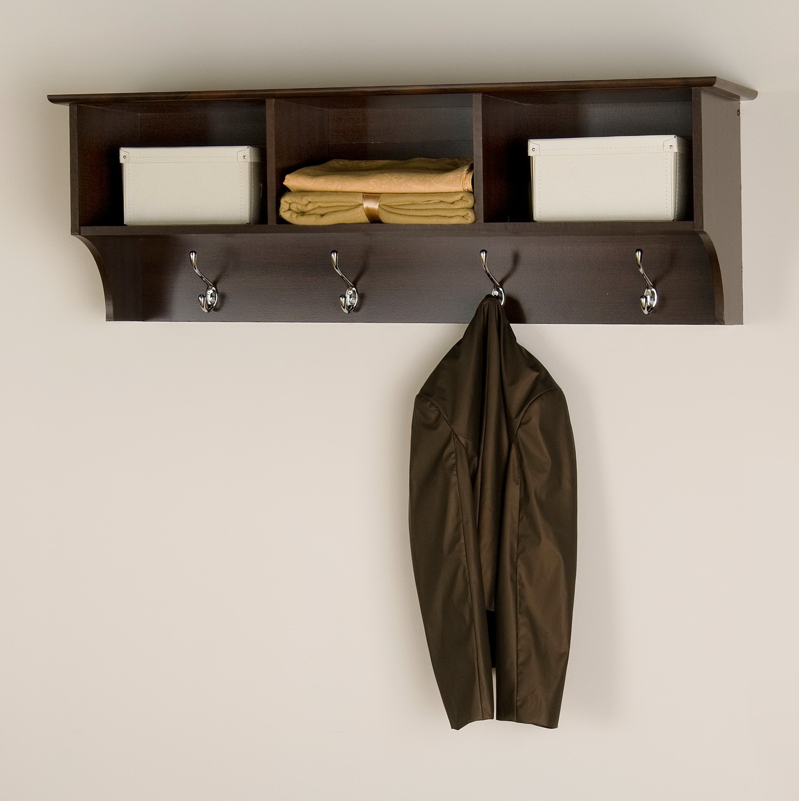 How To Make A Wall Coat Rack With Shelf