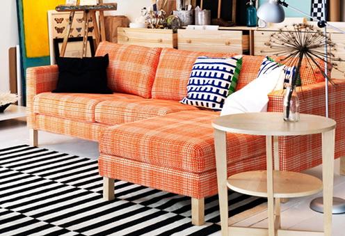 Ikea Karlstad Sofa Orange