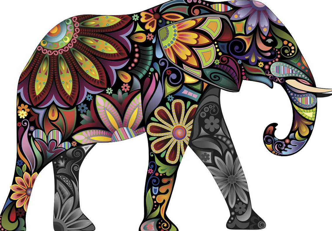 Indian Elephant Wall Art