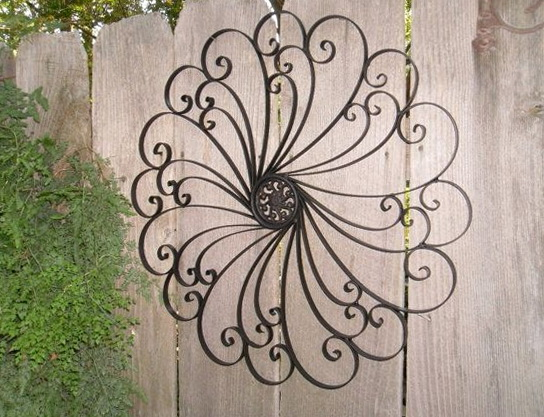 Large Outdoor Wrought Iron Wall Art