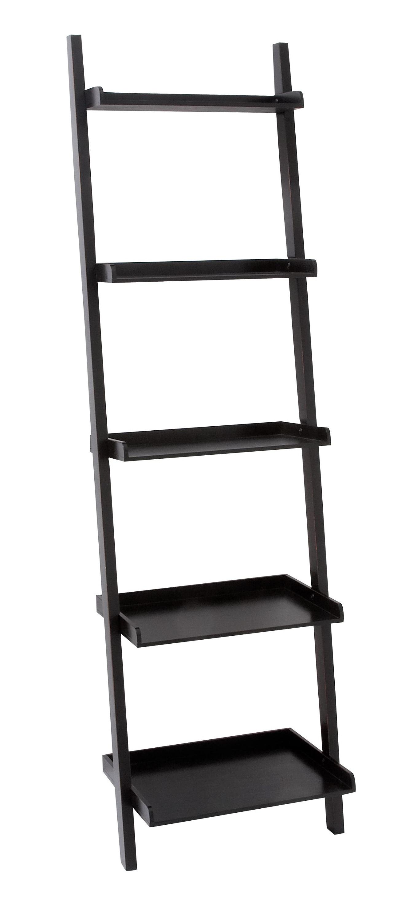 Leaning Wall Shelf Black