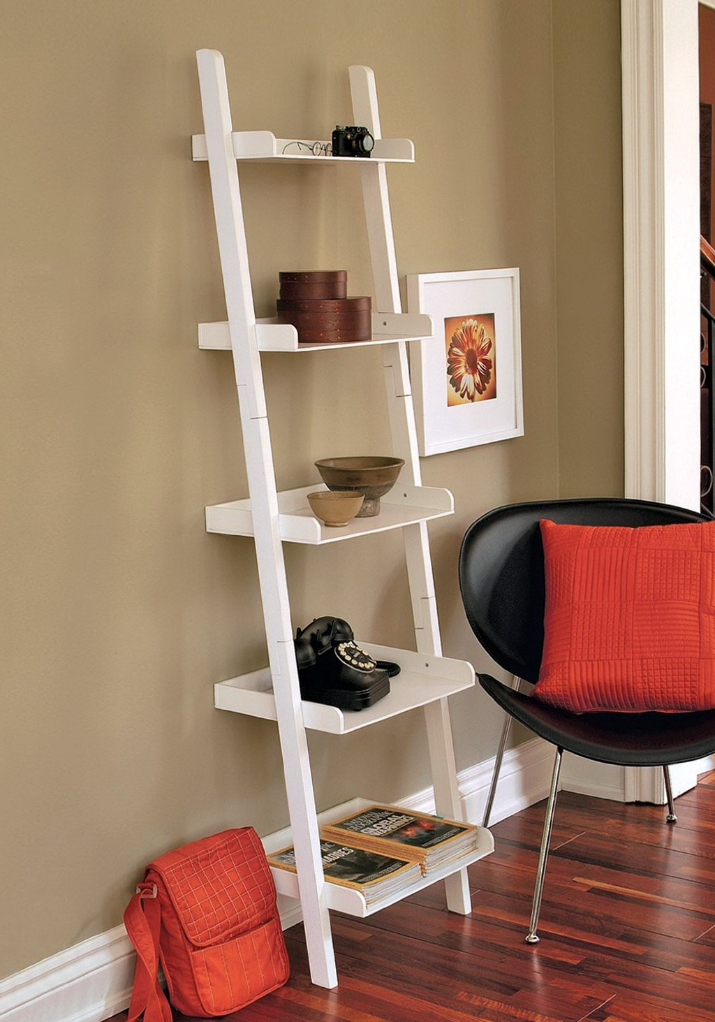 Leaning Wall Shelf White