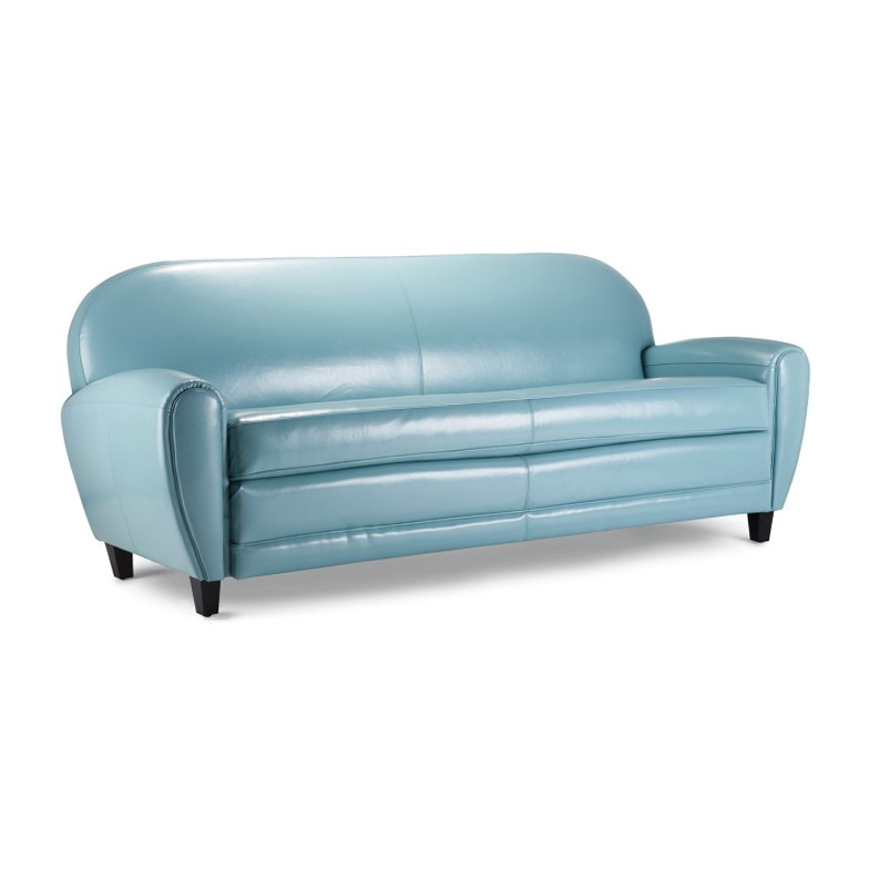 Light Blue Leather Sofa