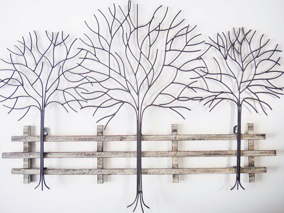 Metal Tree Wall Art Decor