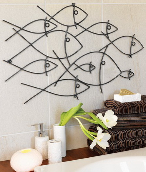 Metal Wall Art For Bathroom
