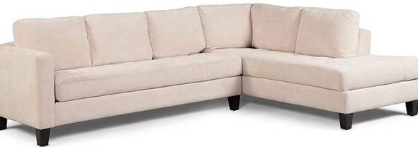Milo Fabric Microfiber Sectional Sofa