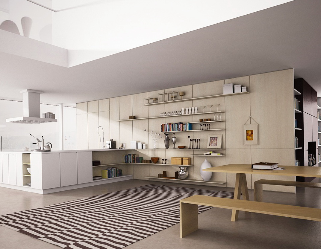Modern Kitchen Wall Shelf