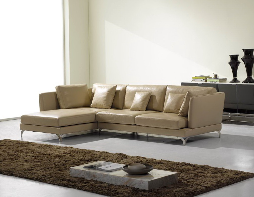 Modern Leather Recliner Sofa