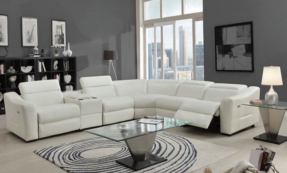 Modern Sectional Sofa With Recliner