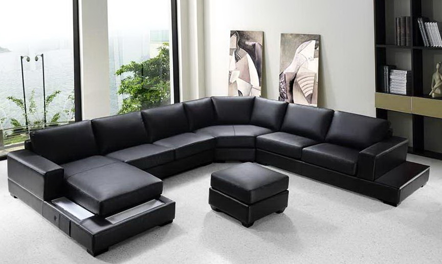 Modern U Shaped Sectional Sofa