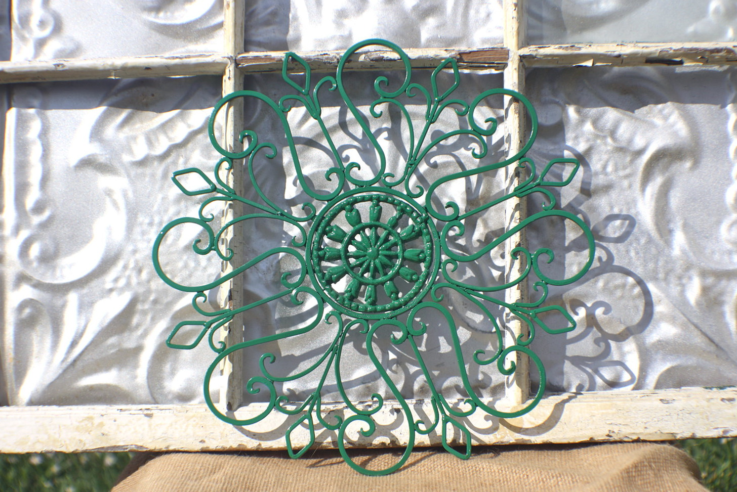 Outdoor Metal Flower Wall Art
