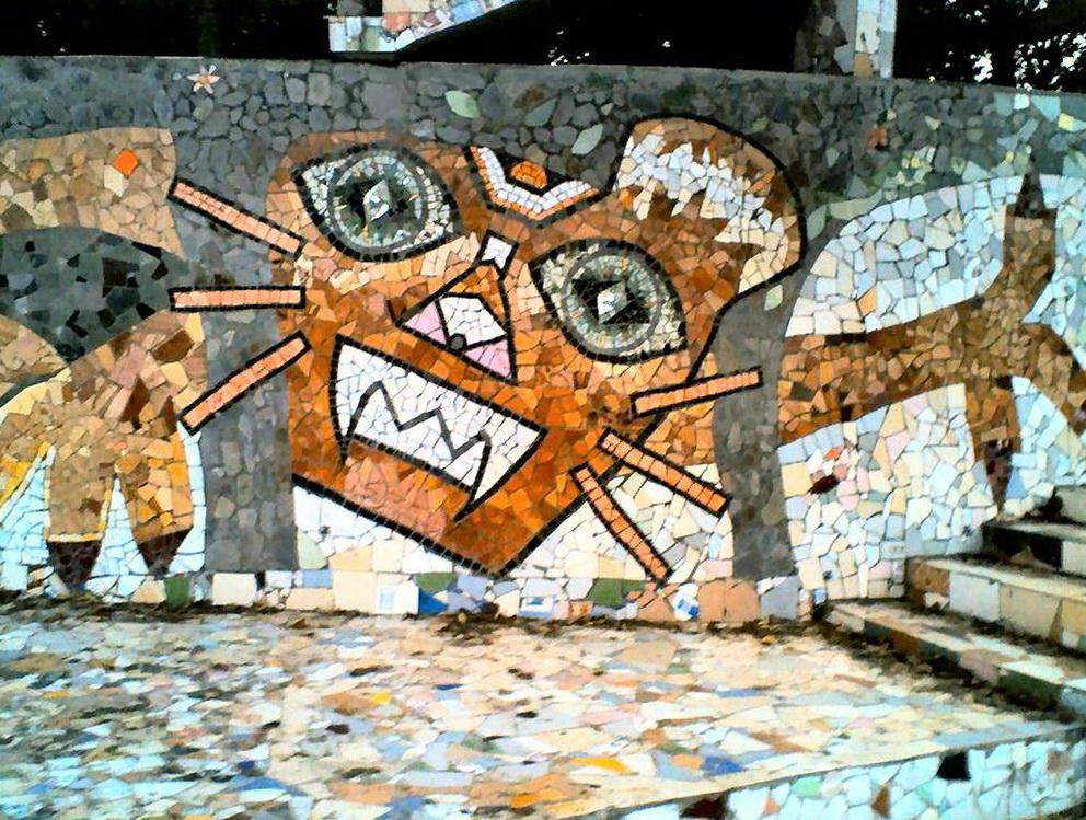 Outdoor Mosaic Wall Art