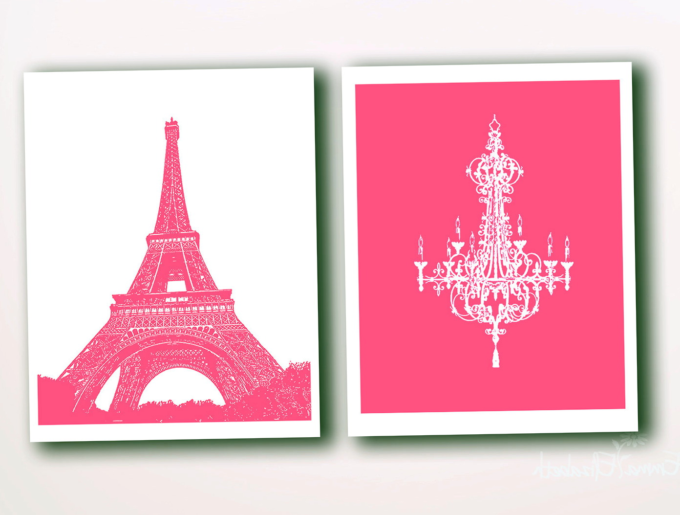 Pink Paris Wall Art