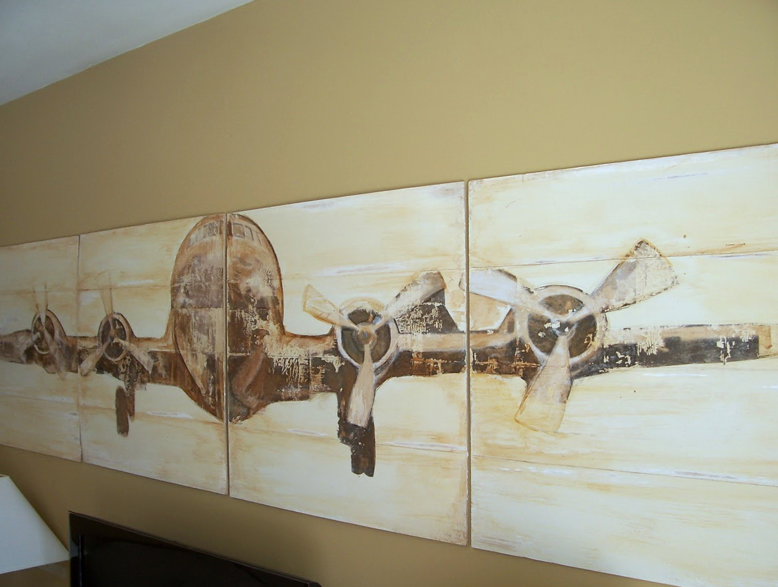 Pottery Barn Airplane Wall Art