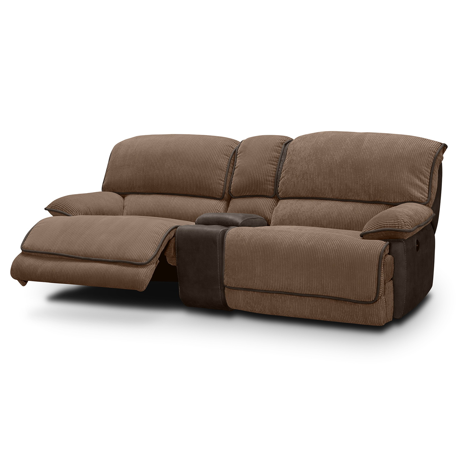 Power Reclining Sofa With Console