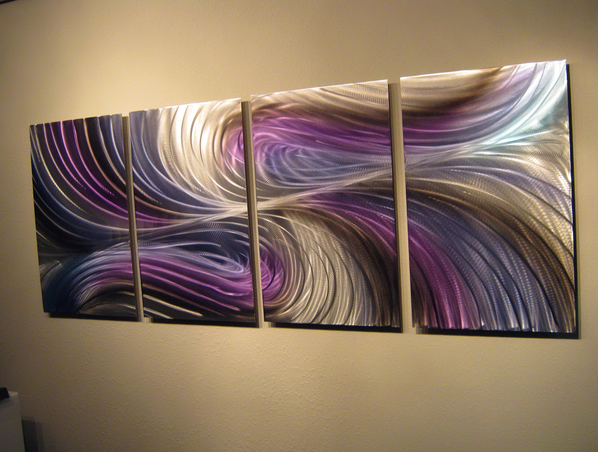 Purple Abstract Metal Wall Art