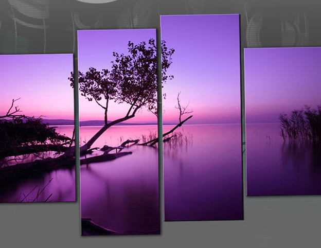 Purple Wall Art Decor