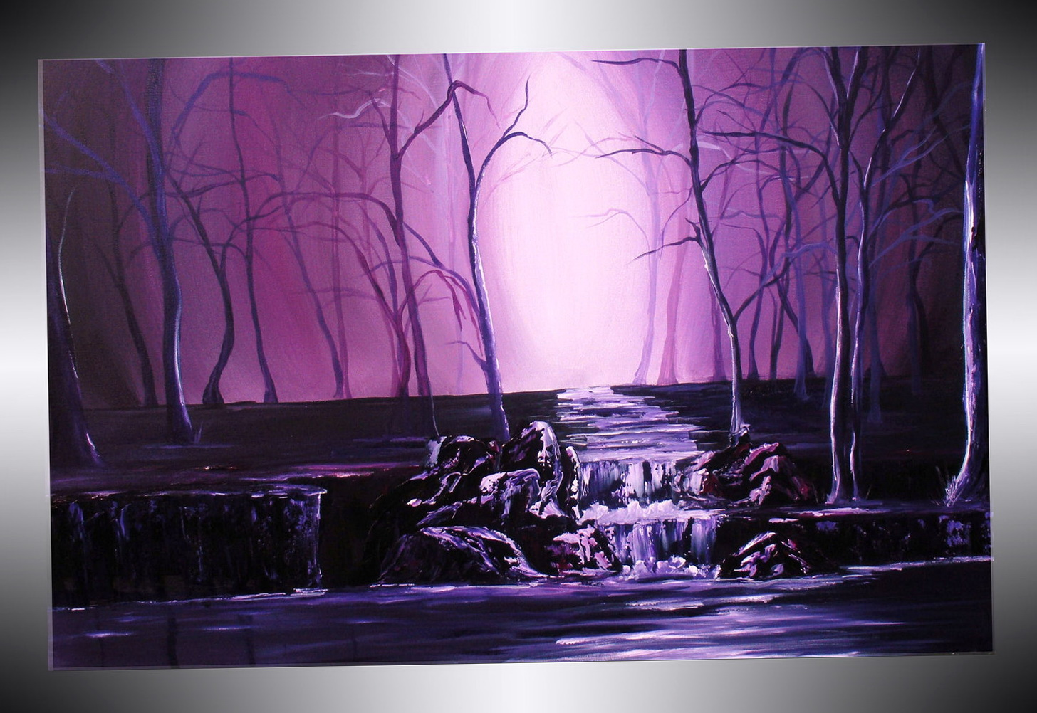 Purple Wall Canvas Art