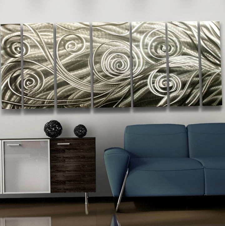 Silver Metal Wall Art Decor