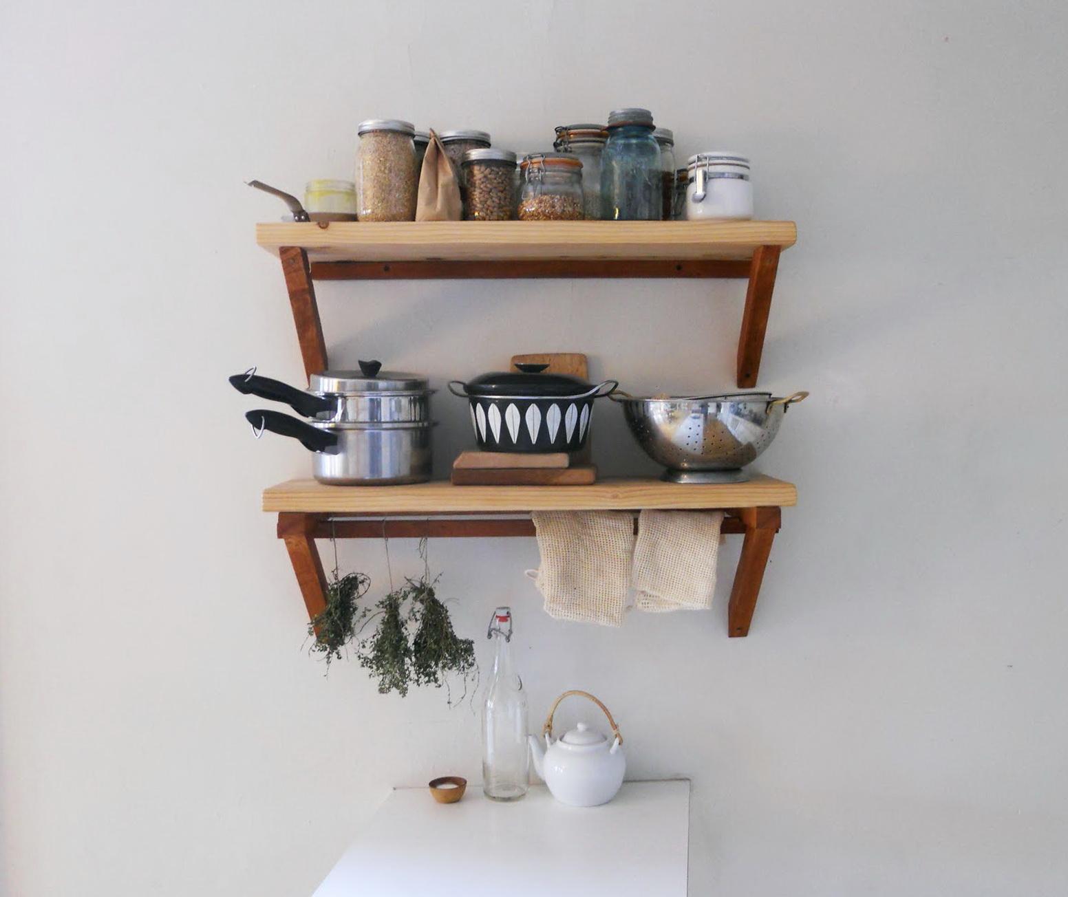 Small Kitchen Wall Shelf