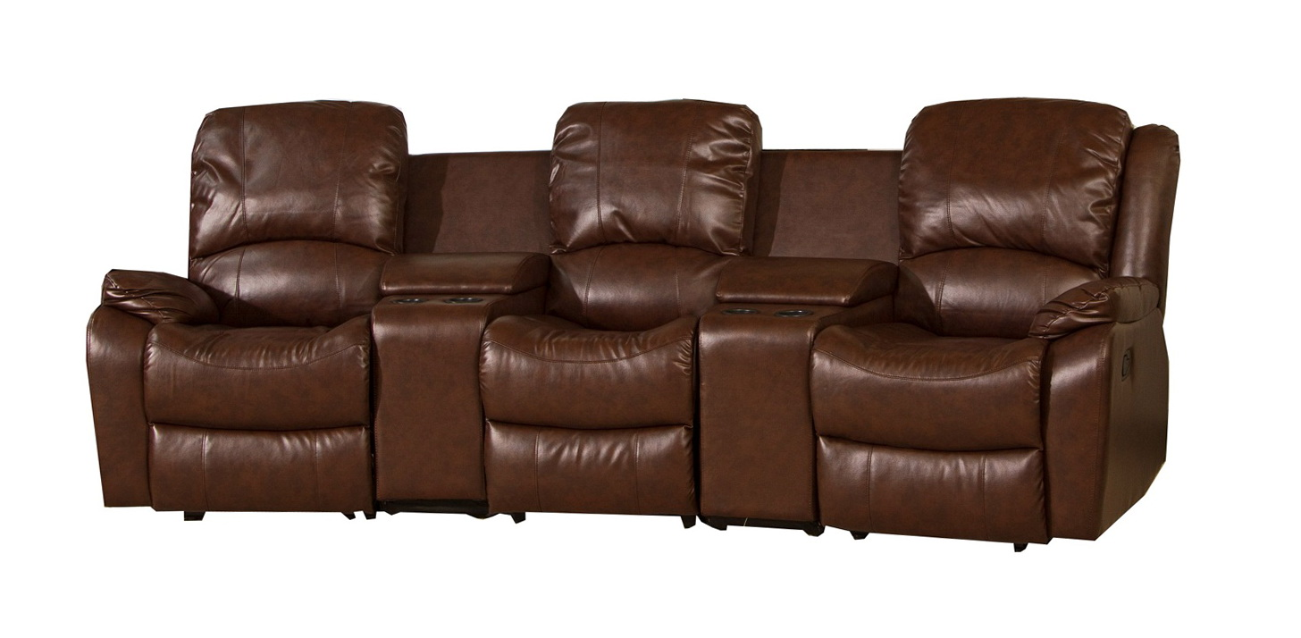 Triple Reclining Leather Sofa