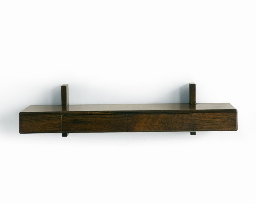 Wall Mount Component Shelf Wood