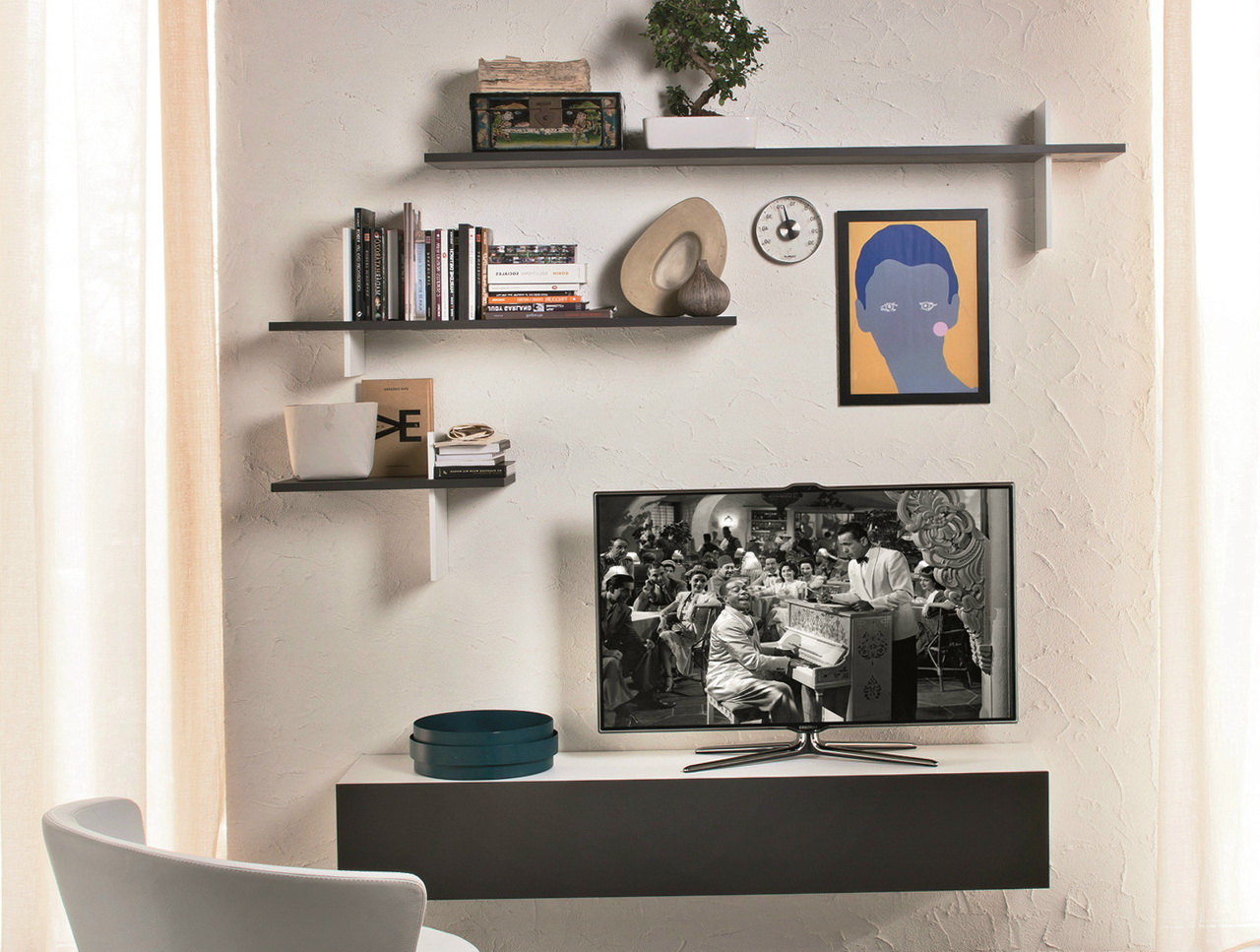 Wall Shelf For Tv And Dvd