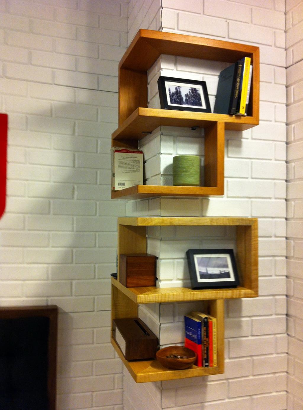 Wood Wall Corner Shelf