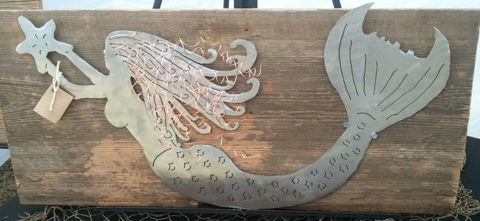 Wooden Mermaid Wall Art