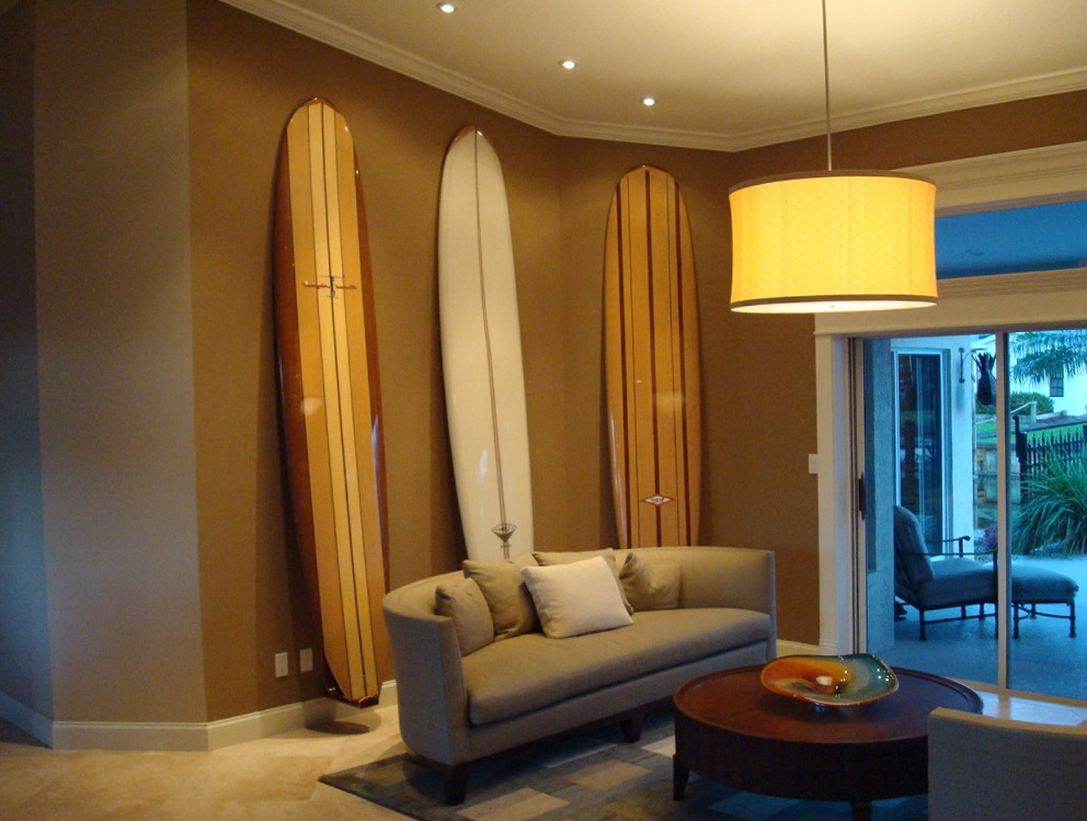 Wooden Surfboard Wall Art