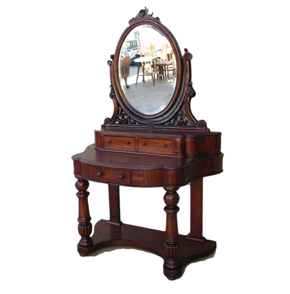 1950 Vanity Dresser With Mirror