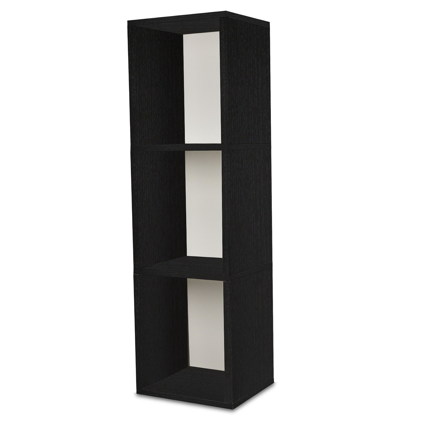 3 Shelf Bookcase Black