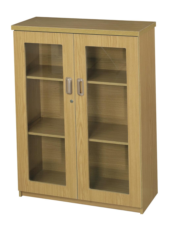 3 Shelf Bookcase With Doors